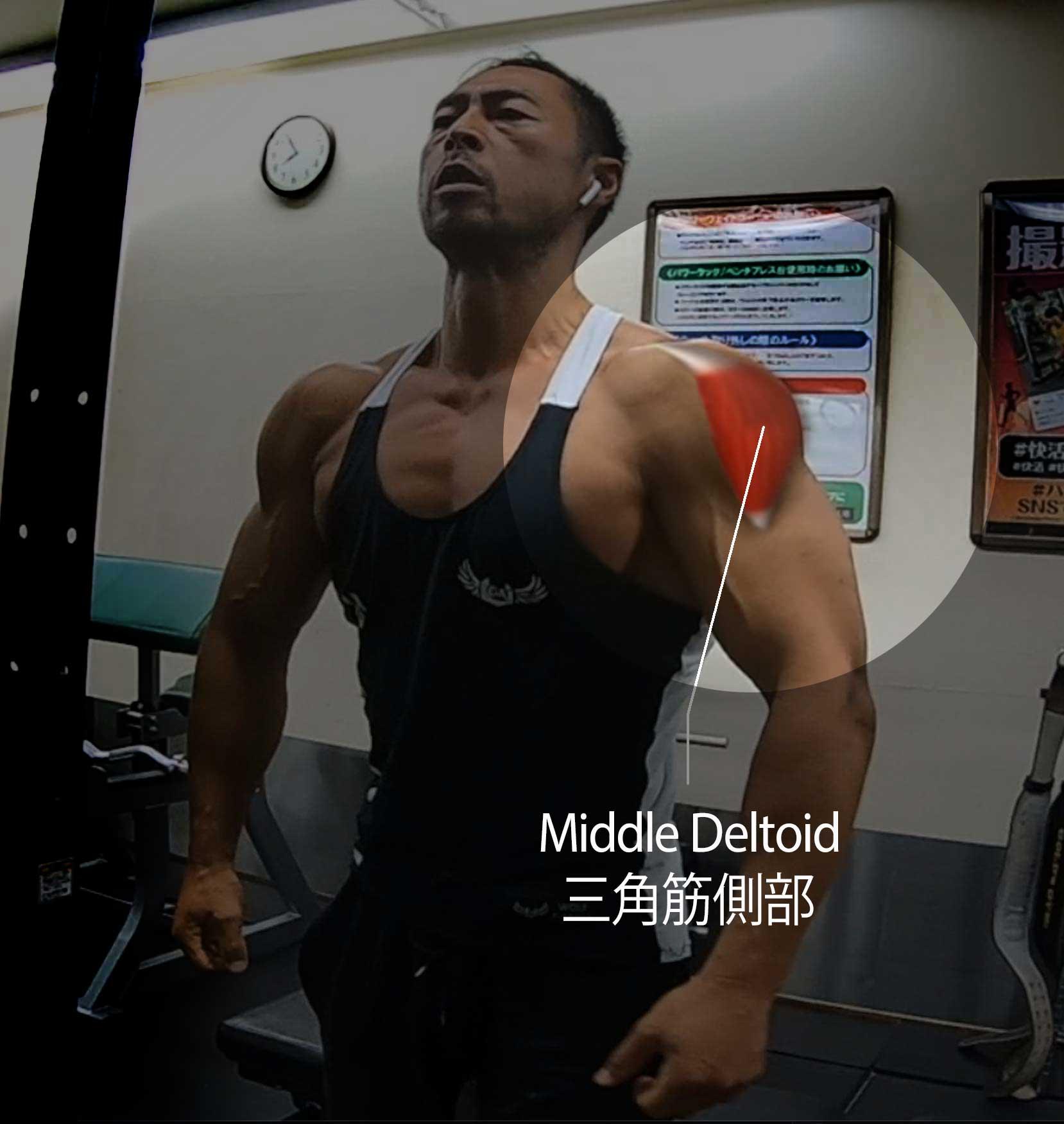 肩幅を作る。サイドレイズやケーブルサイドレイズのやり方とその違い