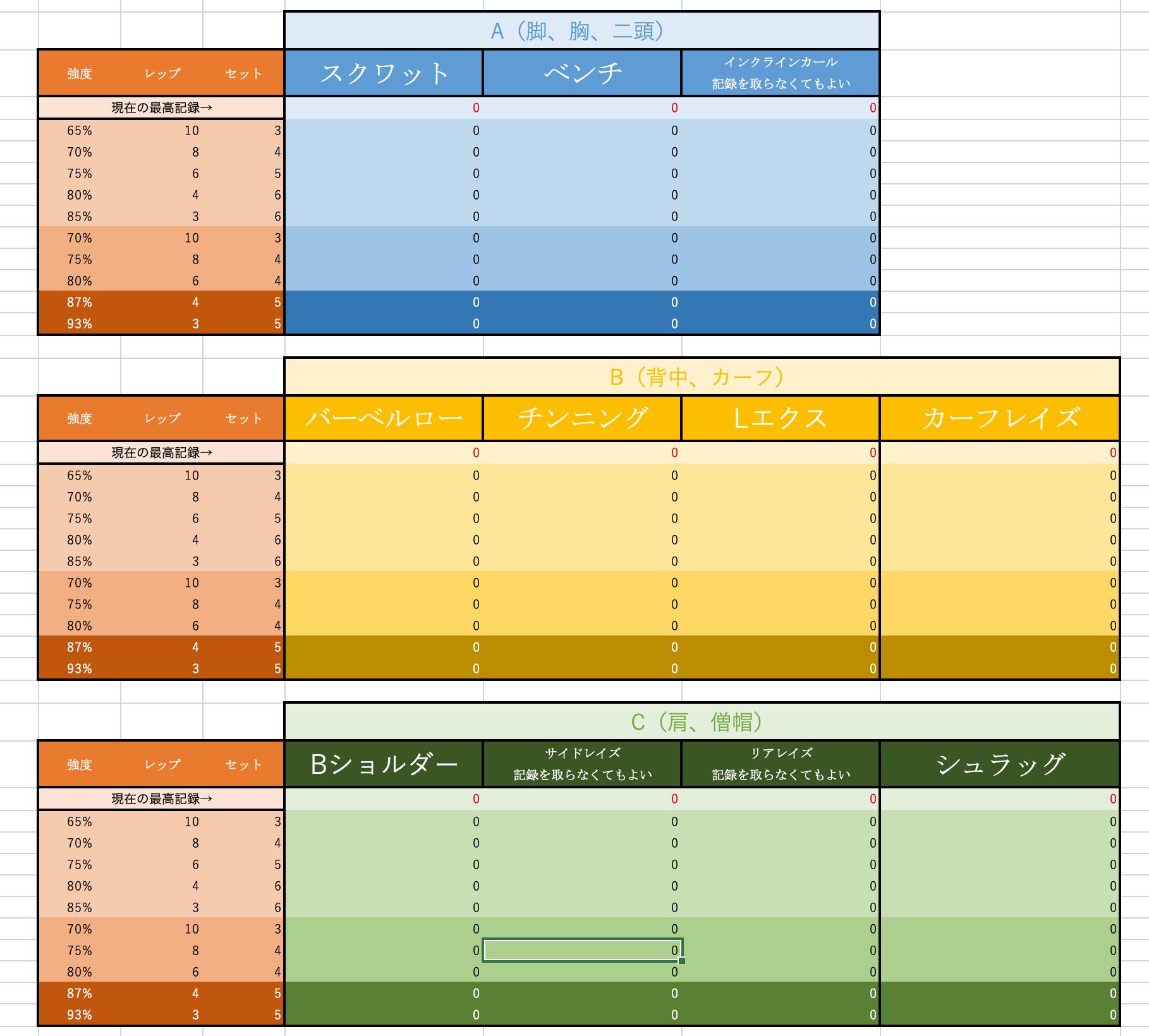 プレゼント yoshi式トレーニングプログラム ダウンロードページ